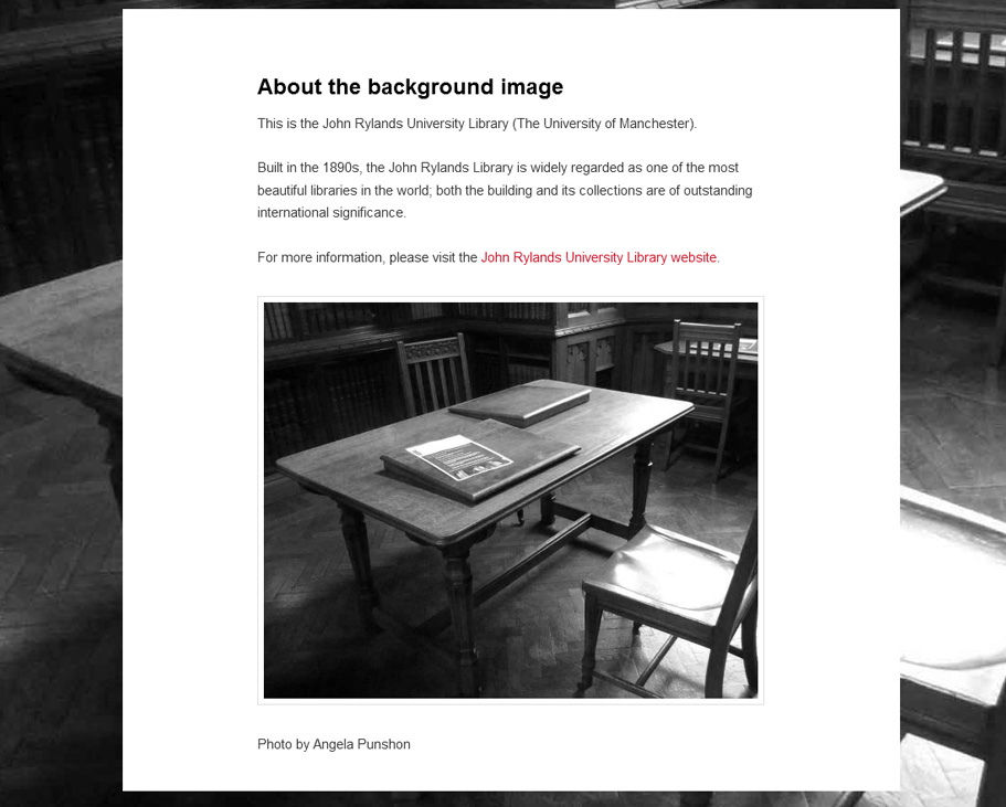Business website (about background image) 2013