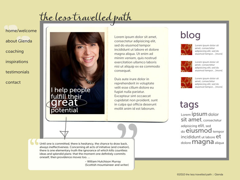 """Business website (2009): The Less Travelled Path"""""""