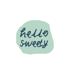 """a design with the words """"hello sweety"""""""
