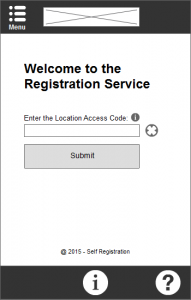 A draft version of the registration home page