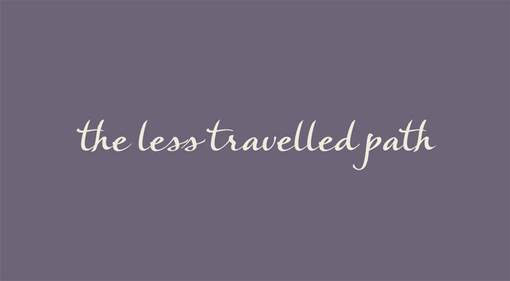 """Business card for """"the less travelled path"""""""